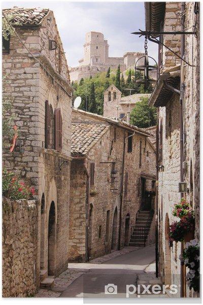 Plakat Średniowieczna ulica włoski - Tematy