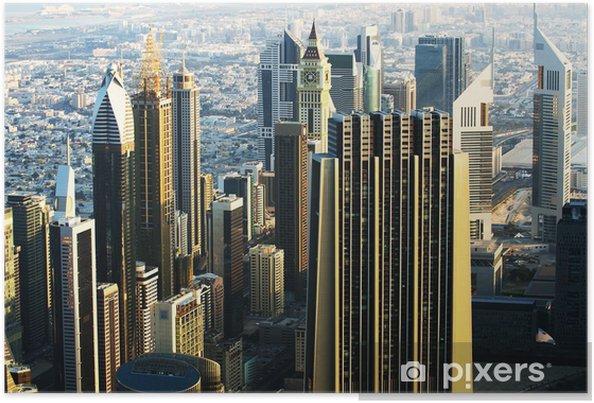 Plakat Śródmieście Dubaju (Zjednoczone Emiraty Arabskie) - Bliski Wschód