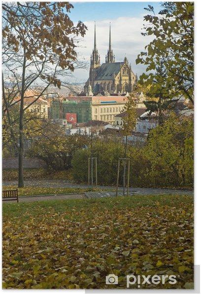 Plakát St. Paul a St. Peter kostel Brno, Česká republika - Evropa