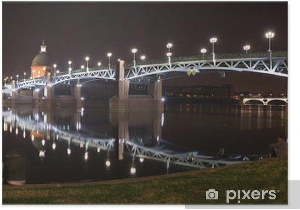 Plakat St-Pierre most w nocy - Wakacje
