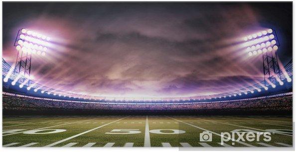 Plakat Stadion amerykański - Football amerykański