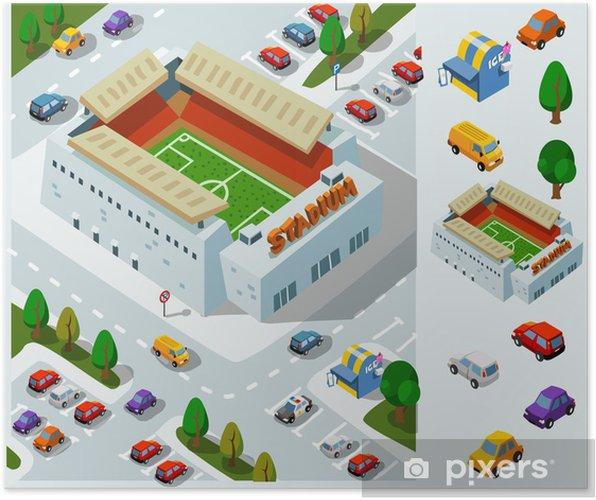 Plakat Stadion Soccer Izometryczny Vector - Ekologia