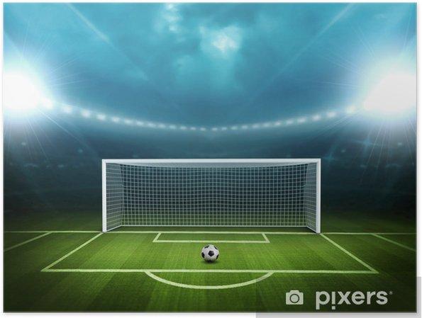 Plakat Stadion z piłką nożną -