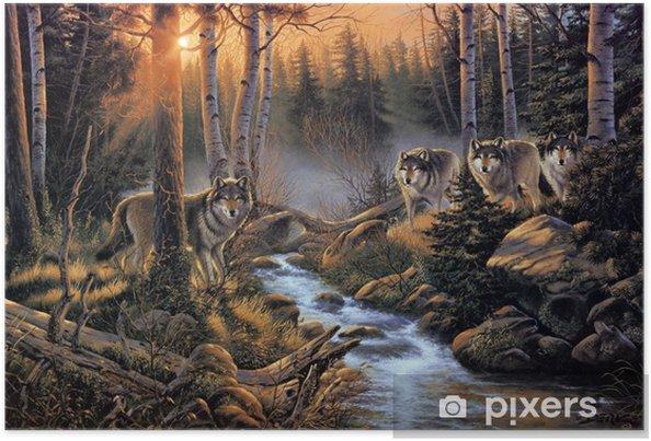 Plakat Stado wilków -