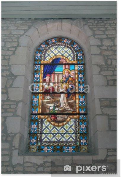 Plakat Stained Glass Church Dolus - Oléron - Religie