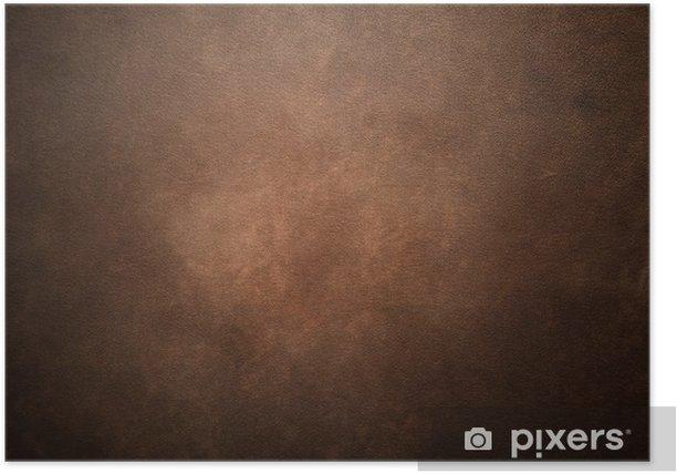 Plakát Stará hnědá kůže na pozadí - Móda