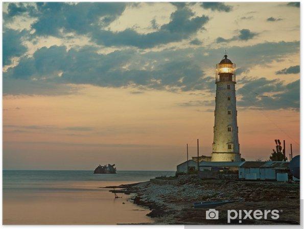 Plakat Stara latarnia na brzegu morza, Tarkhankut, Krym, Ukraina - Infrastruktura