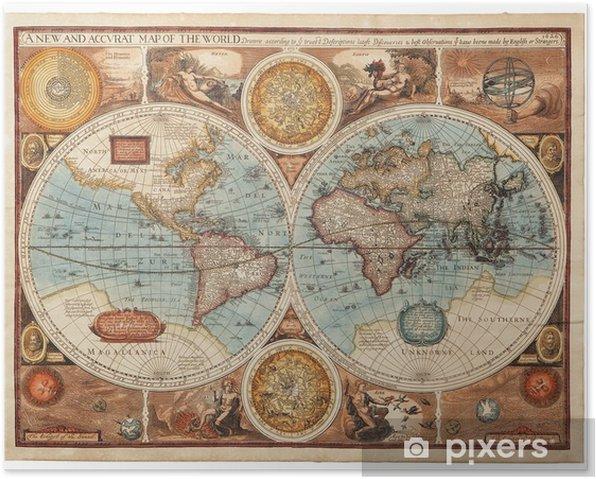 Plakat Stara mapa (1626) -