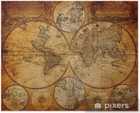 Plakat Stara mapa (1746) -