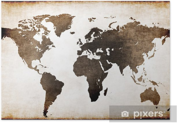 Plakat Stara mapa świata - Tematy