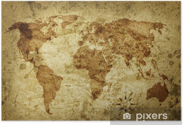 Plakat Stara Mapa Swiata Pixers Zyjemy By Zmieniac