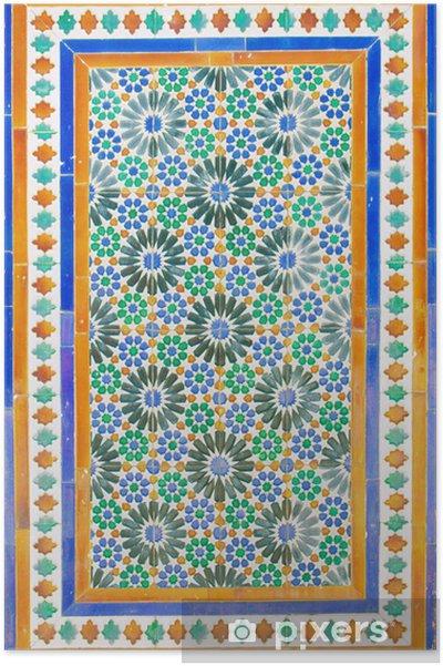Plakát Stará mozaika u kláštera Cartuja, Sevilla - Evropa
