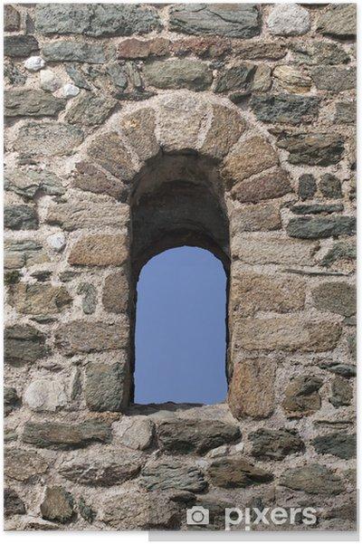Plakát Stará okna hrad - Evropa
