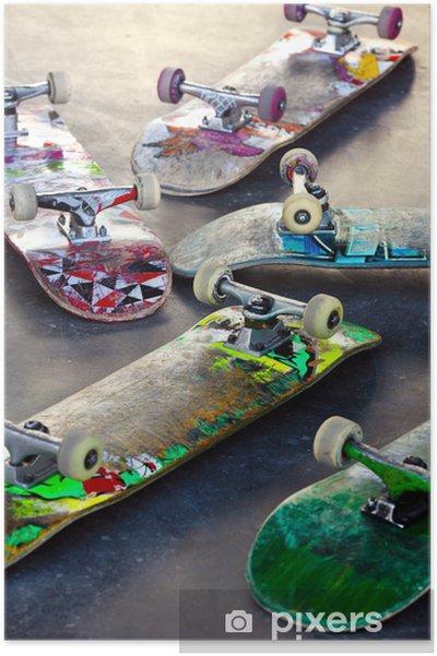 Plakat Stare deskorolki - Skateboarding