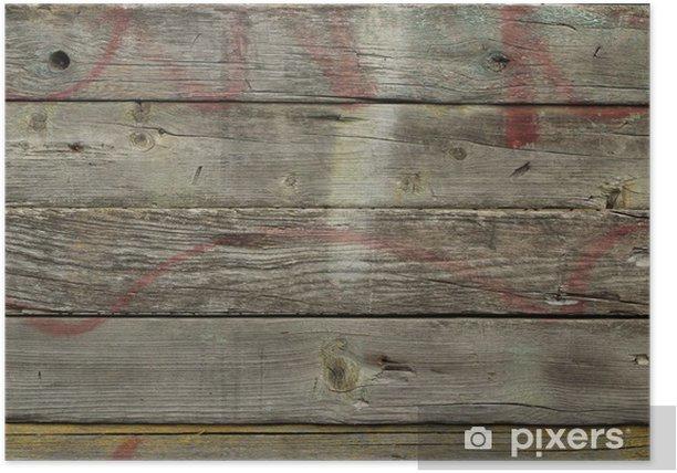 Plakat Stare drewniane deski streszczenie tle - Tekstury