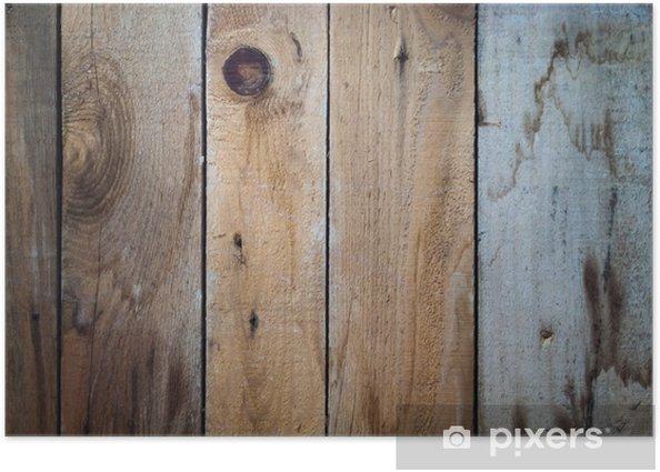 Plakat Stare drewniane deski - Tekstury