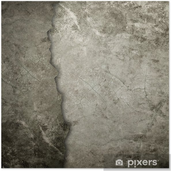 Plakat Stare grunge ścianie - Tematy