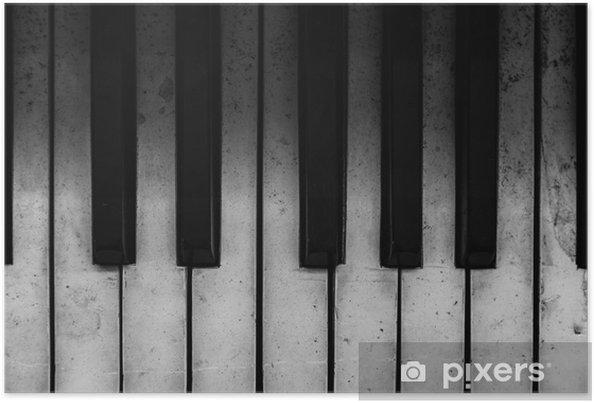 Plakat Stare klawisze fortepianu - Fortepian