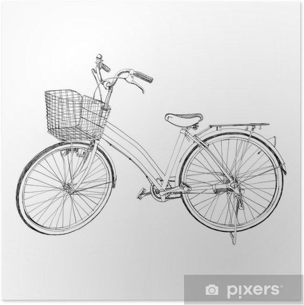 Plakat Stare Kolo Skica Ilustrace Kreslene Rucne Pixers