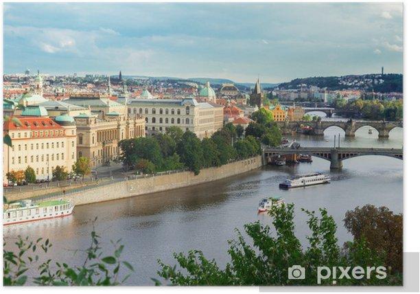 Plakat Stare Miasto w Pradze od góry - Europa