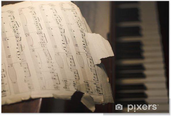 Plakat Stare nuty na fortepian - Fortepian