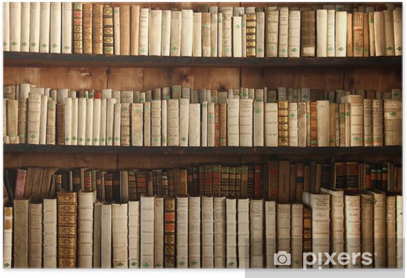 Plakat Stare Regał - Biblioteczka