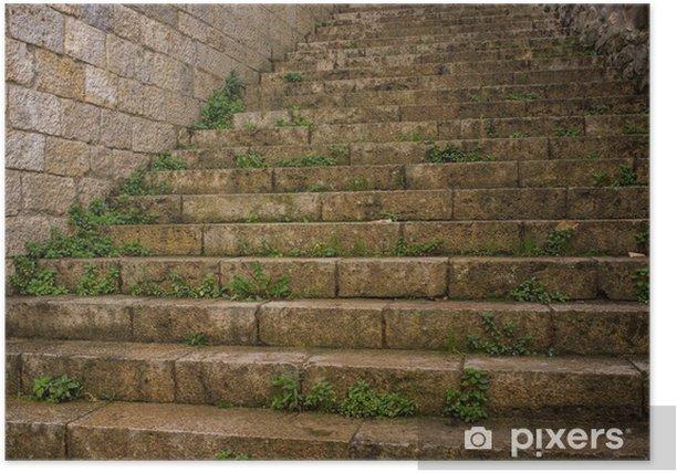 Plakát Staré schodiště venku - Témata