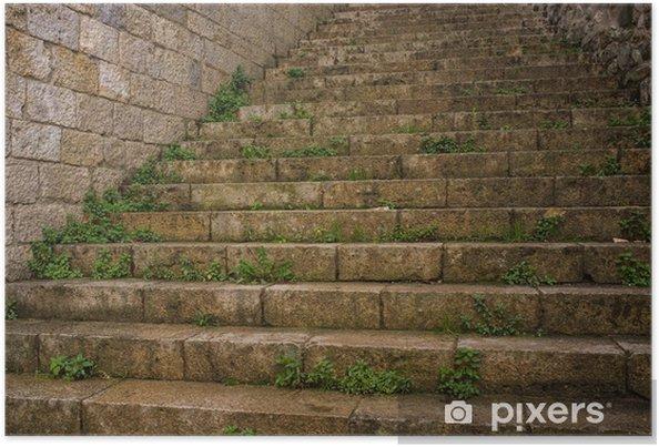 Plakat Stare schody na zewnątrz - Tematy