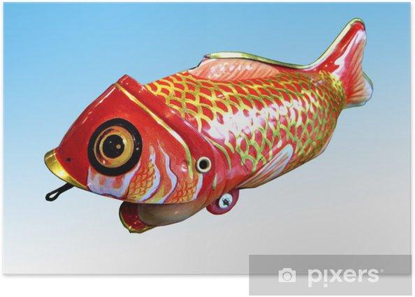 Plakat Stare zabawki ryb tin - Gry