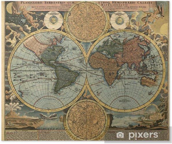 Plakat Starożytna mapa - Style