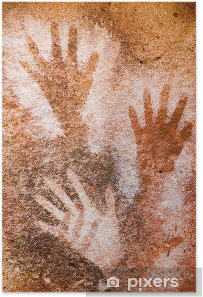 Plakat Starożytne malarstwo jaskini w Patagonii, Argentyna. - Sztuka i twórczość