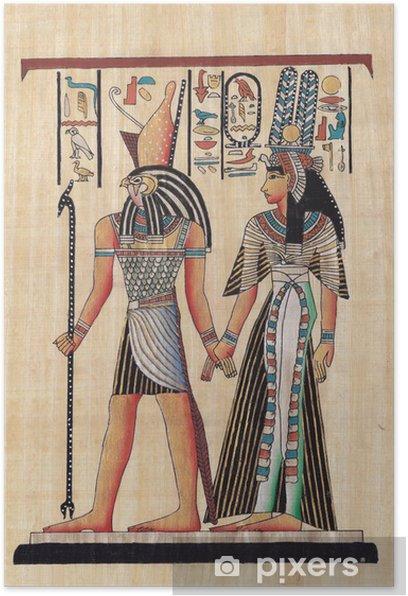 Plakat Starożytne papirus papieru - Sztuka i twórczość