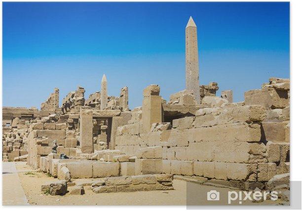 Plakat Starożytne ruiny świątyni Karnak w Egipcie - Inne