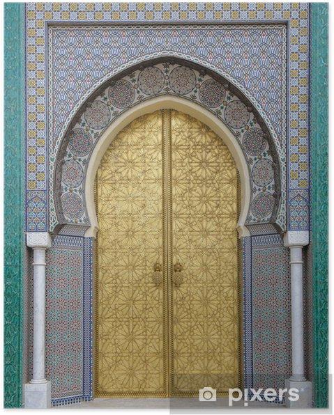 Plakat Starożytni drzwi, Maroko - iStaging