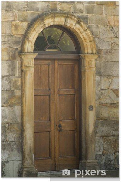 Plakat Starożytny pałac drzwi - Zabytki