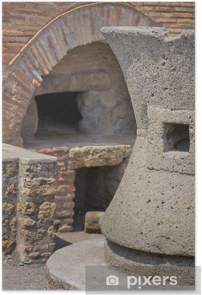 Plakat Starożytny piekarni w Pompeii - Europa