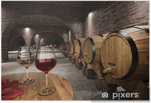 Plakat Starożytny winiarnia - Wino