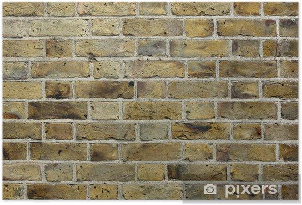 Plakat Stary ceglany mur tekstury - Tekstury