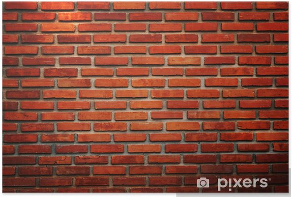Plakat Stary ceglany mur tekstury - Tła