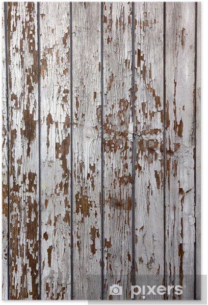 Plakat Stary drewniany powierzchni - Tekstury
