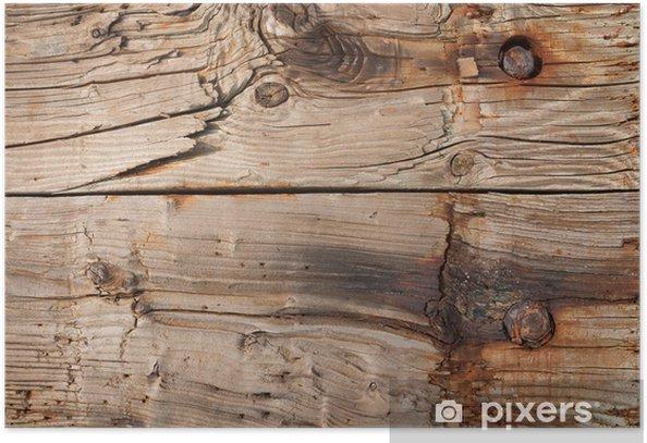 Plakat Stary drewniany tekstury - Dom i ogród