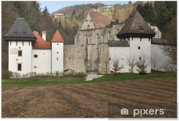 Plakat Stary klasztor kartuzów w Žiče, Słowenia - Pory roku