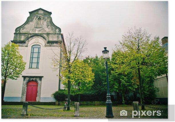 Plakát Starý kostel - Soukromé budovy