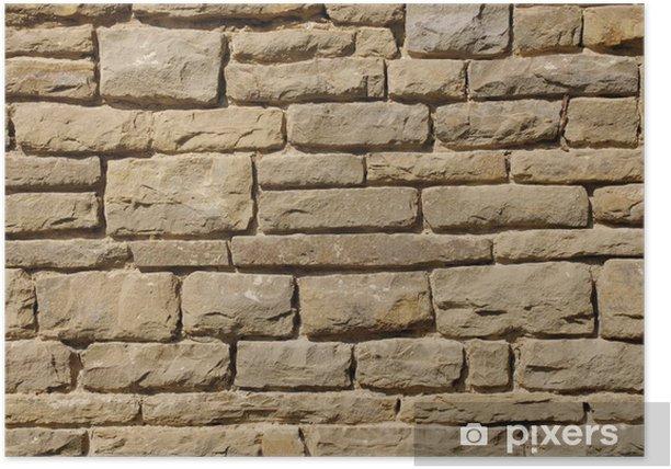 Plakat Stary mur zbliżenie - Przemysł ciężki