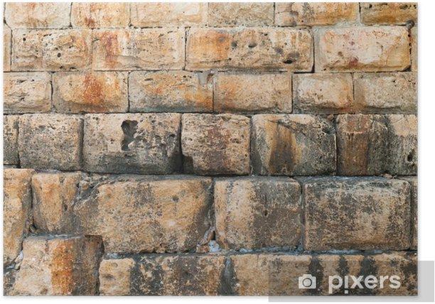 Plakat Stary mur - Tekstury