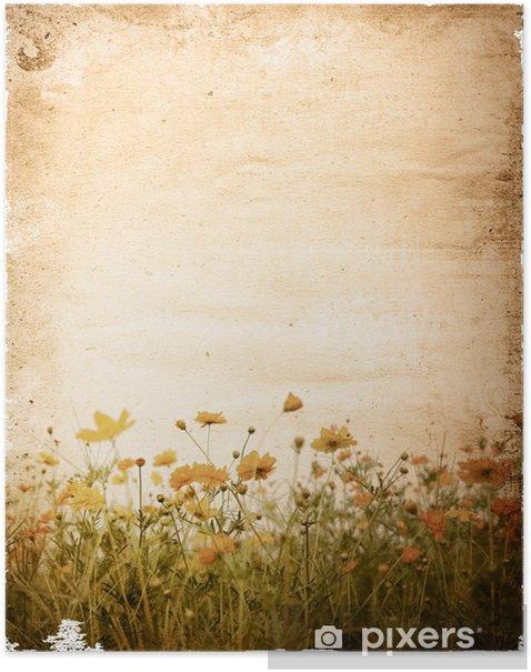 Plakát Starý papír květ - s prostorem pro text nebo obrázek - Umění a tvorba