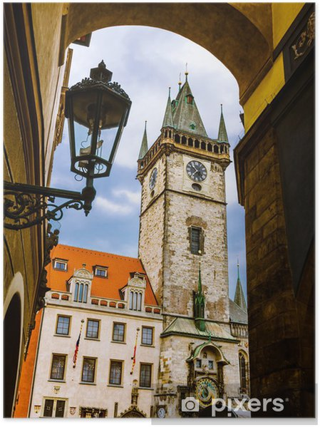 Plakat Stary Ratusz, Stare Mesto, Praga - Pejzaż miejski