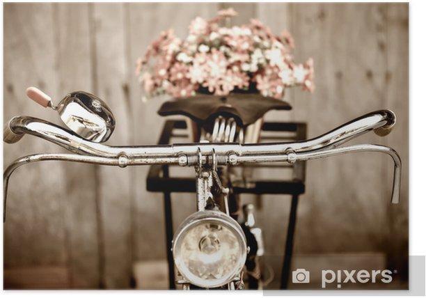 Plakat Stary rower i Wazon - Tematy
