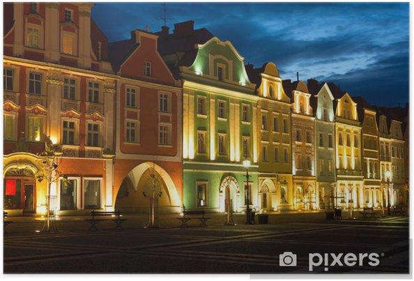 Plakat Stary Rynek w Bolesławcu (niemiecki: Bolesławiec) w Polsce. - Tematy