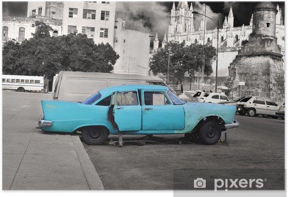 Plakat Stary samochód Havana - Ameryka